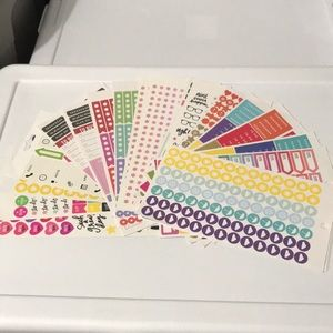 Planner stickers 30 loose pages sheets